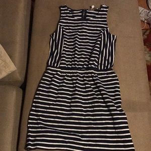 Navy with white strips Dress